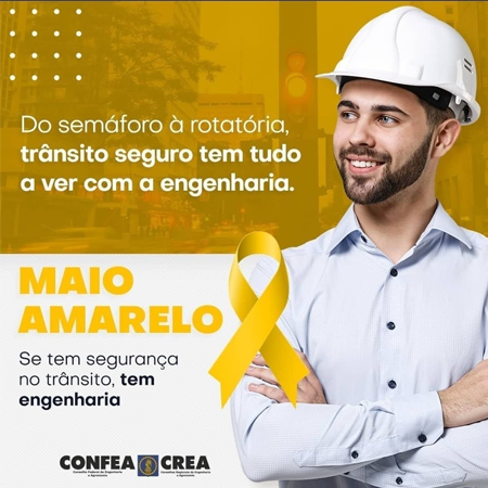 Conselho apoia campanha MAIO AMARELO