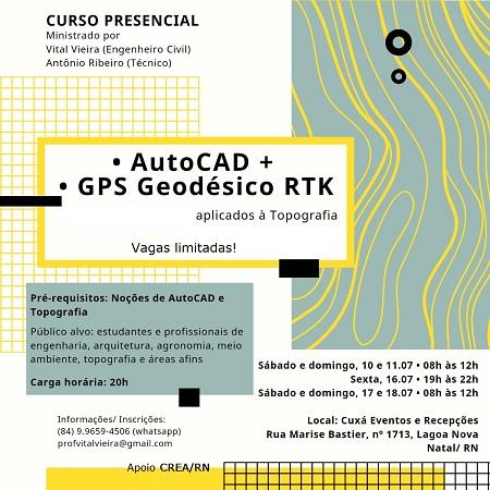 AutoCAD + GPS Geodésico RTK aplicado à Topografia