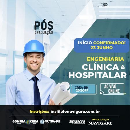 Pós em Engenharia Clínica e Hospitalar (Instituto Navigare)
