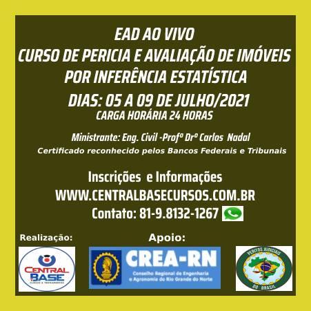 CURSO DE PERICIA E AVALIAÇÃO DE IMÓVEIS POR INFERÊNCIA ESTATÍSTICA (Central Base)