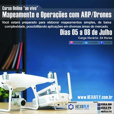 Mapeamento e Operações ARP/Drones (Hexafly)