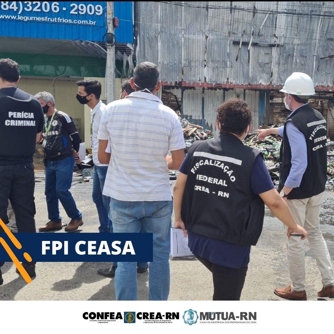 Crea-RN realiza Fiscalização Preventiva Integrada em conjunto com Corpo de Bombeiros, Semurb, Cosern e IBAP/RN