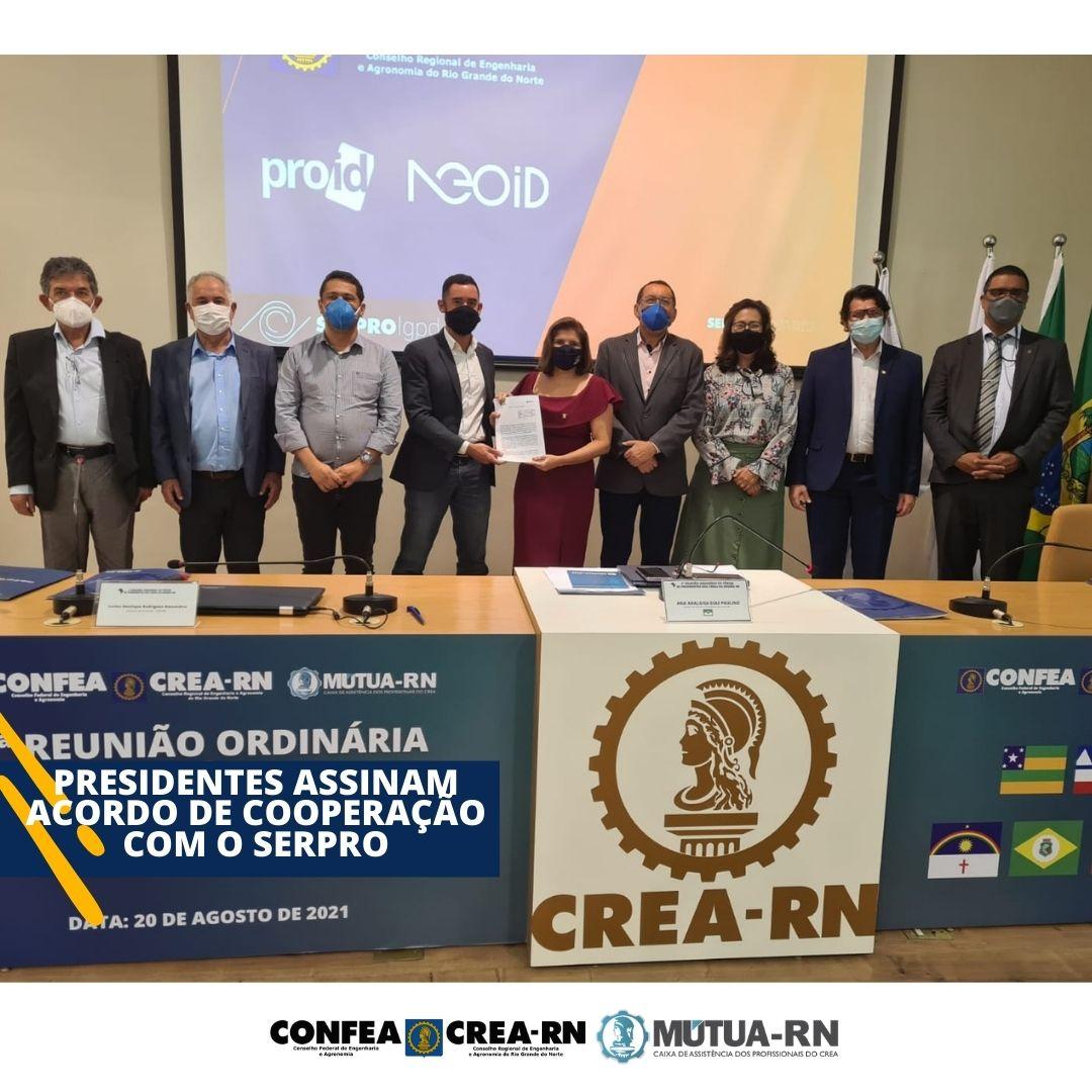 Presidentes dos CREAs do Nordeste assinam Acordo de Cooperação Técnica com o Serpro para a criação de ferramentas tecnológicas